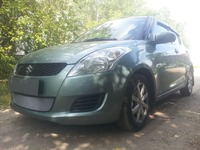 Защита радиатора для Suzuki Swift 2011-2013 (Хром-Низ)
