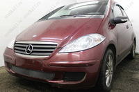 Защита радиатора для Mercedes-Benz A-Klass (150) II (W169) 2004-2007 (Чёрный-Низ)