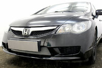 Защита радиатора для Honda Civic 4D VIII (рестайлинг) 2008-2012 (Хром-Низ)